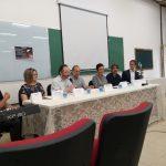 Mesa de Abertura. Prof. Jeová Mota (ISTA), Prof.a Érika Lourenço (Coordenadora do Simpósio), Prof. Bruno Reis (Vice Diretor da Fafich UFMG), Prof Miguel Mahfoud (Coordenador do Simpósio)  Prof.a Claudia Na força  (Pró-reitora de Extensão UFMG), Prof. Adriano Nascimento  (Chefe do Dep de Psicologia FAFICH UFMG), Prof. Rodrigo Coppe Caldeira (PUC Minas)